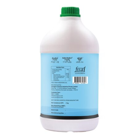 Cold Pressed Coconut Oil Jerry Can 5 kgs Back