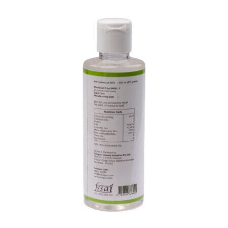 Virgin Coconut Oil PET Bottle 500 ml Back
